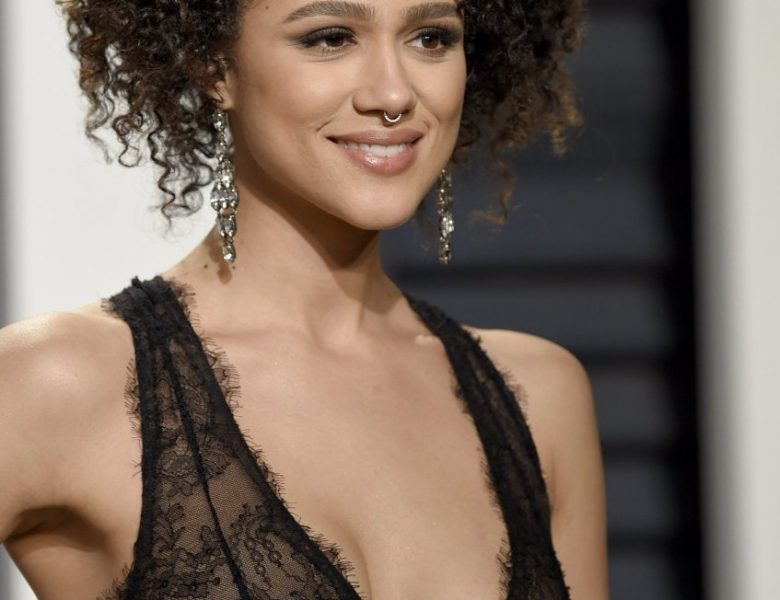 Nathalie Emmanuel Looks Perfect in a See-Through Black Dress