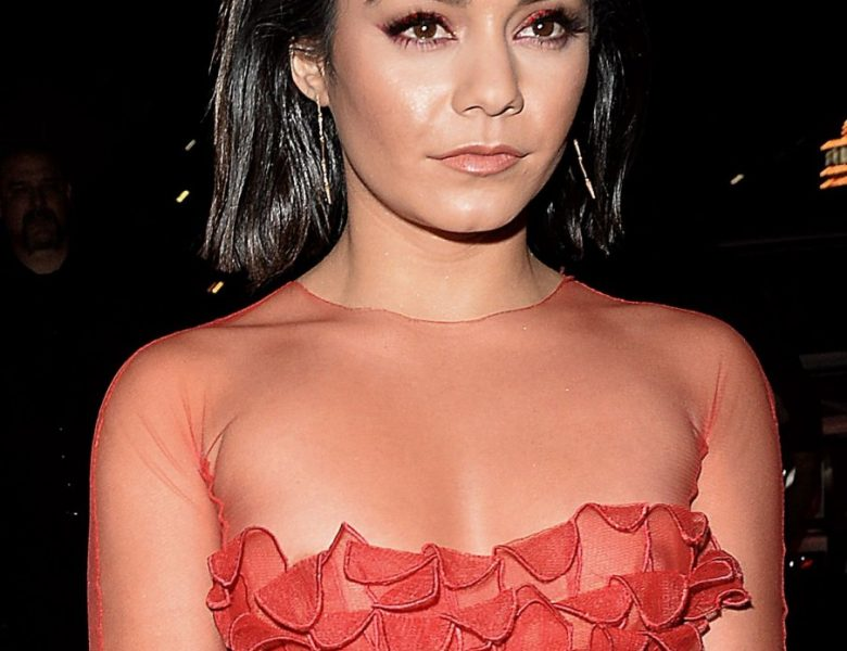 Stunning Brunette Vanessa Hudgens Shows Her Nips in a See-Through Dress