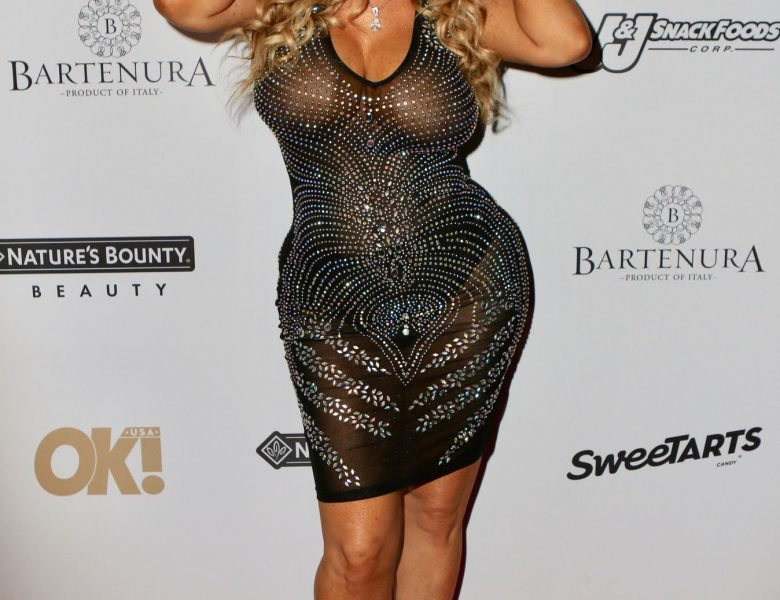 Shameless Blonde Coco Austin Shows Her Boobs in a See-Through Dress