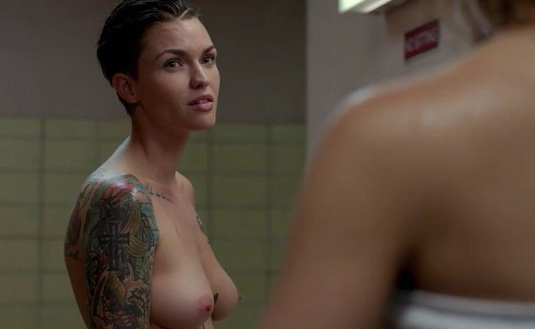 Naked Ruby Rose Showing Her Perfect Inked-Up Body (8 Screencaps)