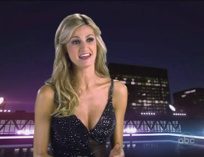 Blond-Haired Beauty Looks Sexy in Her Revealing Dress (Screencaps)