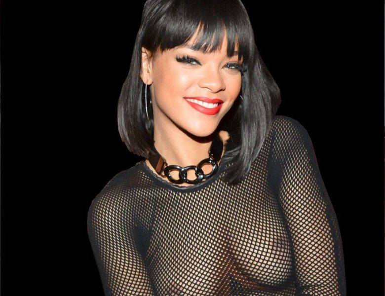 Bad Girl Rihanna Shows Her Boobs in a See-Through Outfit