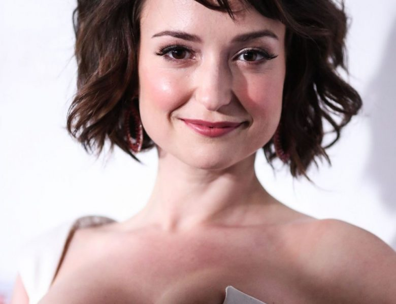 Cute Brunette Milana Vayntrub Proudly Showing Her Big Boobies