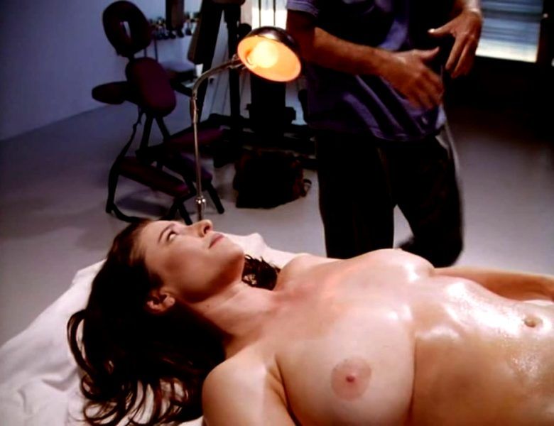 Mimi Rogers' Big Boobs Being Massaged in Front of the Camera