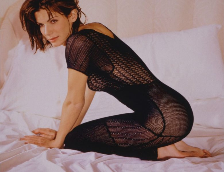 Younger Sandra Bullock Showing Her Lovely Body in a See-Through Outfit
