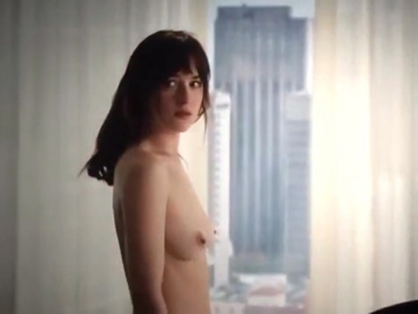 Dakota Johnson's Hottest Nude Screencaps from 50 Shades of Grey