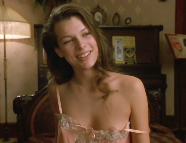 Young Milla Jovovich Flashing Her Ass and Beautiful Breasts Too