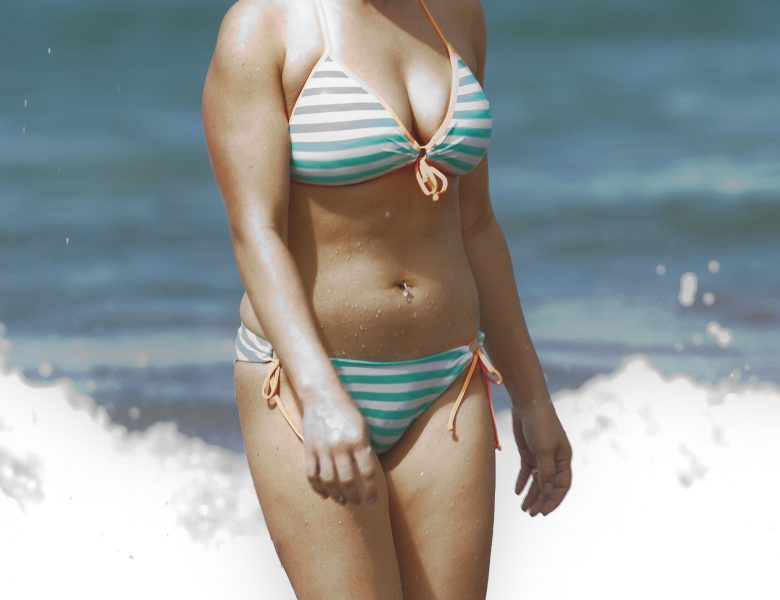 Danielle Fishel Displaying Her Admittedly Tight Body in a Swimsuit