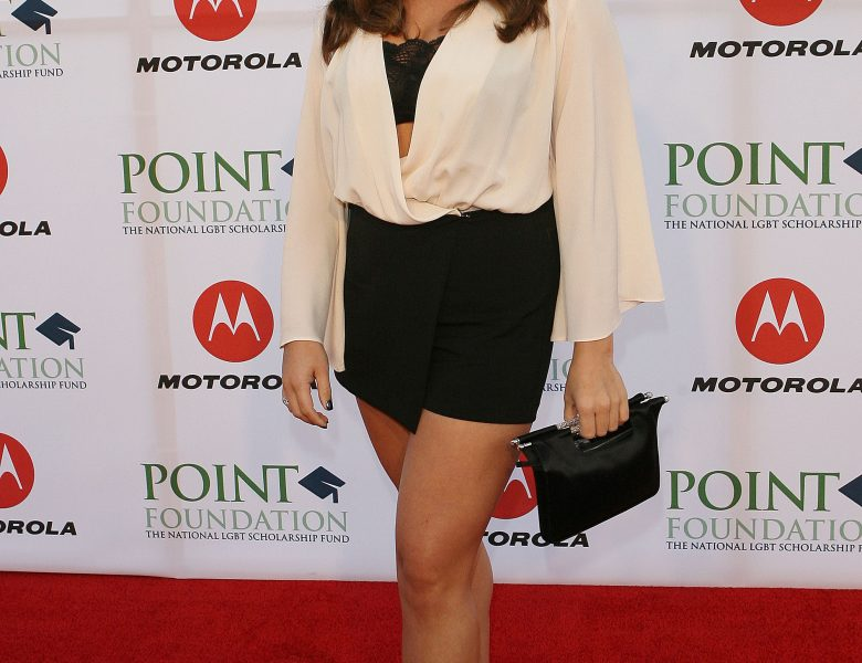 Chipper Danielle Fishel Showing Her Long Legs on the Red Carpet
