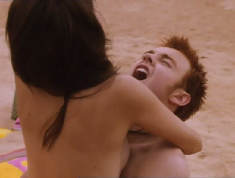 Younger Rose Byrne Riding Her Boyfriend's Dick on the Beach (Topless Scene)