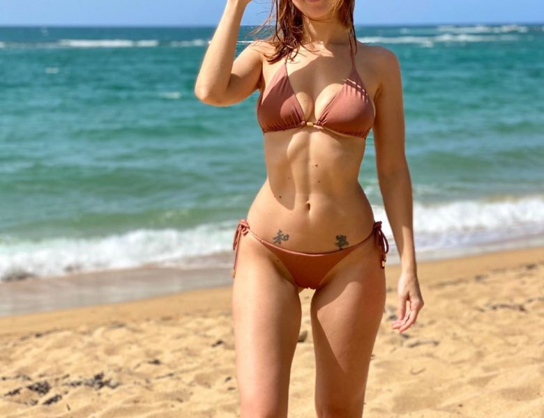 Bikini-Wearing Leanna Decker Happily Showing Her Flexibility and Beyond
