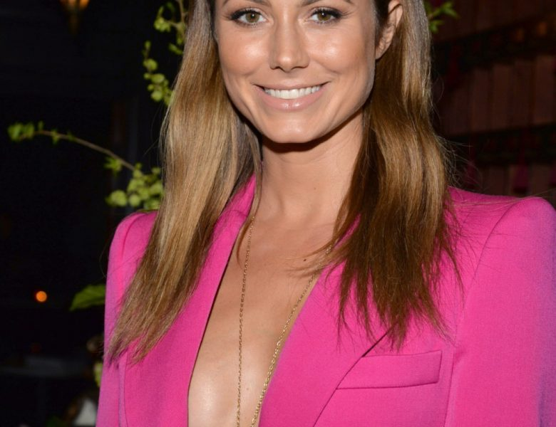 Braless Stacy Keibler Is Happy to Show Some of That Delicious Sideboob