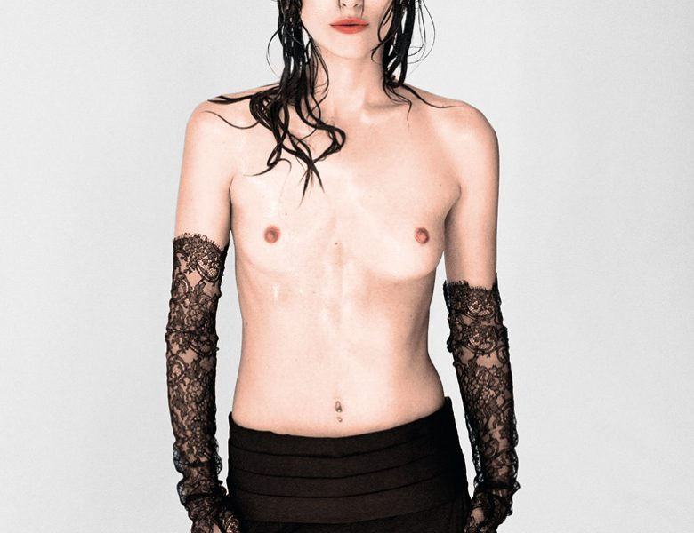 Brazen Beauty Keira Knightley Shows Her Naked Breasts (B&W and Colorized)