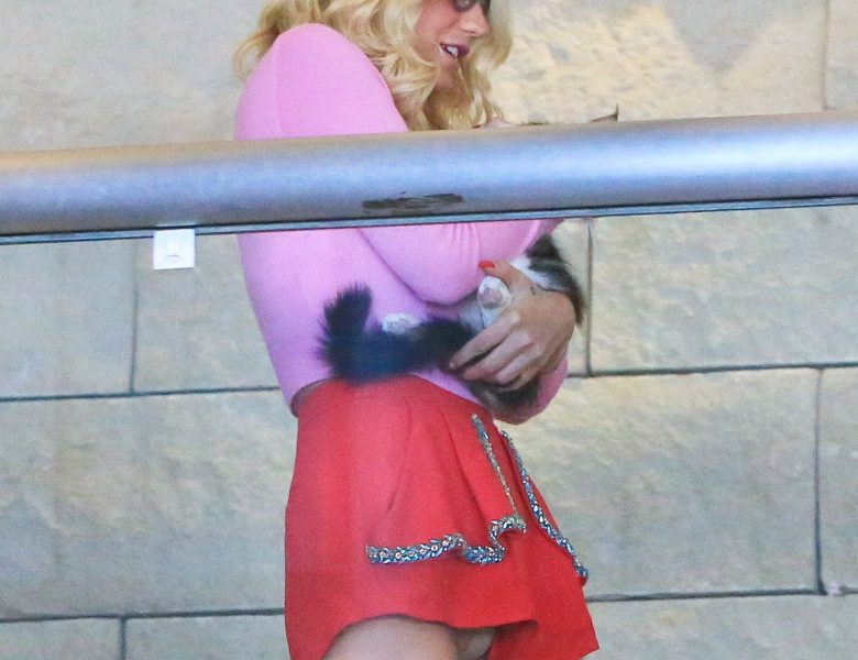 Leggy Blonde Kesha Displaying Her Upskirt in a Twisted Gallery