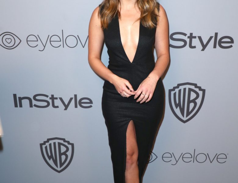 Sophisticated Brunette Chloe Bennet Shows Her Rack and Legs in a Hot Dress