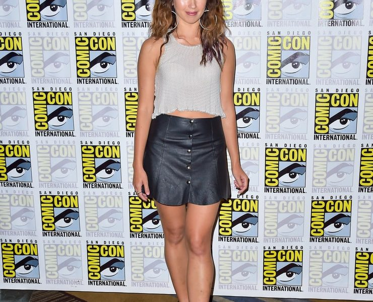 Long-Legged Cutie Nichole Bloom Shows Off in a Leather Skirt