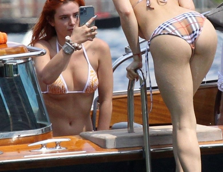 Edgy Redhead Bella Thorne Shows Her Small Yet Sexy Butt in HQ
