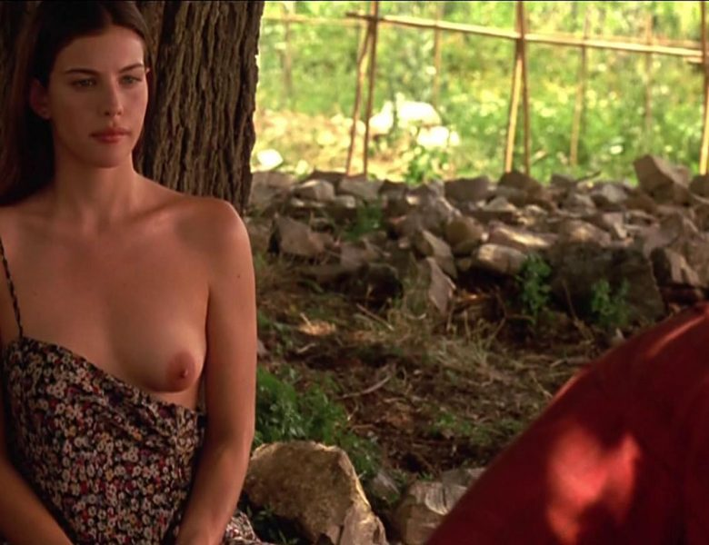 Raven-Haired Beauty Liv Tyler Flashes Her Beautiful Left Breast on Camera